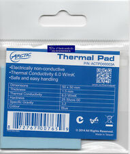 ARCTIC COOLING 50x50 * Stärke 1,5mm * Thermal Pad * Hochleistungs Wärmeleit Pad