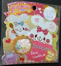 Kamio Japan Love Rabbit Bunny Kawaii Stickers Sack sticker flakes stationery