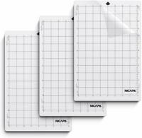 Nicapa StandardGrip Cutting Mat for Silhouette Portrait Craft (8x12 inch 3 Mats)