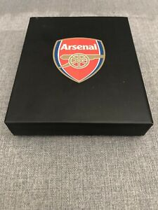 Arsenal FC Football Gift Wallet Black with Box