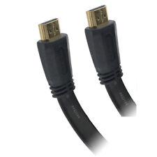 121AV® 2M Premium HDMI Flat Cable V2.0 HD HighSpeed 4K UHD 2160p 3D Gold Plated