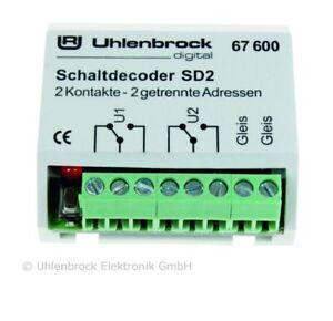Uhlenbrock 67600 SD 2 Schaltdecoder #NEU in OVP#