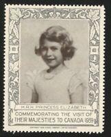 H.R.H. Princess Elizabeth, 1939 Royal Visit to Canada, Poster Stamp