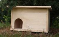 Igelhütte Igelhaus Igelhotel mit Labyrintheingang und Rattenklappe NEU
