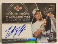 2018 Panini Spectra Super Bowl Champion Signatures #SB35 Trent Dilfer Auto Card