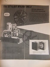 Instructions cine movie projector AMPRO the STYLIST MAJOR MK. 4 - CD/Email