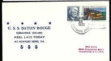 1972 USS Baton Rouge SSN 689 Ship Cover