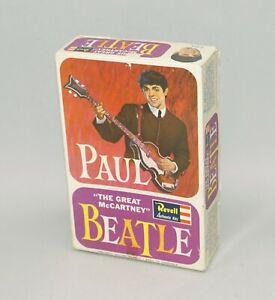 ORIGINAL 1964 REVELL THE BEATLES PAUL MCCARTNEY MODEL KIT EMPTY DISPLAY BOX