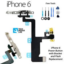 Iphone 6 Bouton Marche/Arrêt / Switch & Caméra Flash Rechange avec Support W/