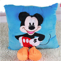 Blue Mickey Mouse Pillow Cute Animals Cushion Pillow For Kids 40 cm Home Decor