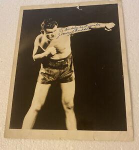 vintage James Braddock Jimmy Braddock signed photo original And Authentic