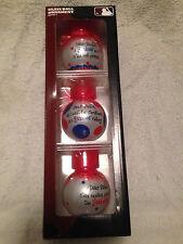 3 GLASS BALL SET !! NEW YORK NY YANKEES CHRISTMAS TREE ORNAMENT TEAM SAYINGS
