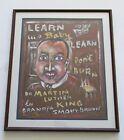 Grandpa Smoky Brown Outsider Folk Art Martin Luther King Painting 1919-2005
