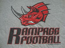 Grand Rapids Rampage Arena Football Player Authentic practice Gray T Shirt 3Xl