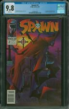 Spawn #2 CGC 9.8 Newsstand edition/variant 1st appearance of Violator, rare!