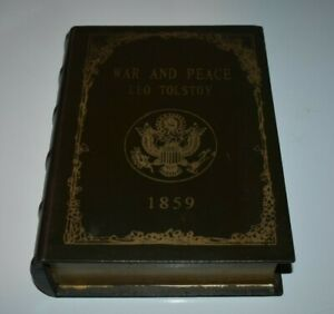 HOLLOW SECRET STORAGE SAFE BOOK WAR AND PEACE LEO TOLSTOY HARDCOVER 1859