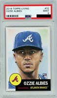 2018 Topps Living #32 OZZIE ALBIES RC Rookie (Braves) PSA 9 MINT PR* 14036