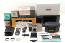【MINT Complete Set】 Contax TVS II Camera + Filter Hood Cap Hard Case From JAPAN