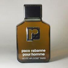 Vintage Paco Rabanne Pour Homme Eau De Toilette / Parfum Splash 4 oz 120ml Full