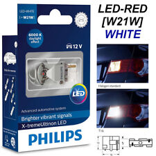 Philips W21W T20 WHITE LED X-treme Ultinon Car Signaling T16 R everse Bulb 6000K