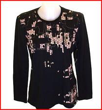 Bnwt Women's Oakley L/S Pixel Camo Stretch T Shirt Large Black Regular Fit UK14