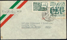 2199 Mexico To Chile Air Mail Cover 1946 Df - Santiago