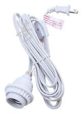 "11 ft Power Cord Kit for 14"" or 16"" Paper Lanterns standard plug US system WHITE"