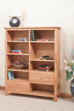 OAK DISPLAY BOOKCASE WITH 2 DRAWERS | HANDMADE TO ORDER