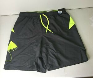 Under Armour Standard Swim Trunks, Pitch Gray Size Men's Size Extra Large