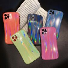 Personality Fashion Laser Colorful Couple Phone Case Cover For iPhone11Pro XR XS