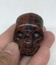 Mahogany Obsidian Hand Carved CRYSTAL SKULL