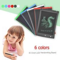 8.5'' Digital LCD Kids Writ Drawing Tablet Electronic Pad Graphic Board Notepad