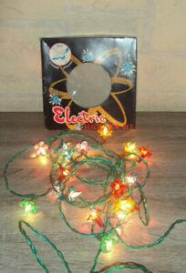 Ancienne guirlande de Noël lumineuse  vintage 20 ampoules