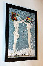 Banksy Water The Flowers framed 8X12 canvas print poster graffiti reproduction