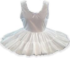 CUSTOM FIT White Broadcloth Slip for Adult Little Girl Sissy Dress up LEANNE