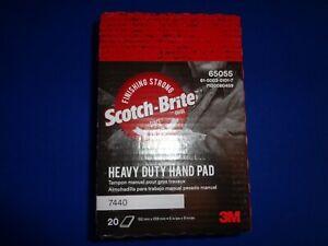3M SCOTCH-BRITE 65055-7440 HEAVY DUTY INDUSTRIAL HAND PAD 6x9 INCH (QTY ONE)