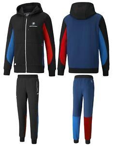 MEN'S PUMABMW M Motorsport Hoodie Jacket + Matching Sweatpants Set Tracksuit