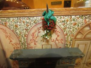 DOLLHOUSE MINIATURE CHRISTMAS KISSING BALL #5 --OOAK