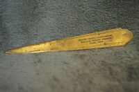 Vintage Letter Opener Western Reserve Investment Co. Insurance Prem. Pampa Texas