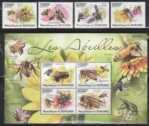 Burundi Bees and Butterflies Stamp Lot - 2 Complete Mint NH Sets