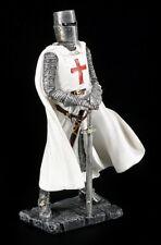 CABALLERO Figura - CRUZADO CON BLANCA CAPE - Estatua Decorativa Edad Media