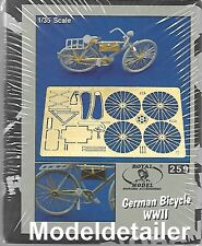 Royal German Bicycle WW II Photo-etch Brass Detail Set RY259