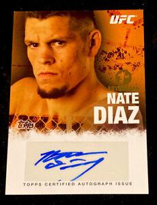 2010 TOPPS UFC NATE DIAZ AUTOGRAPH SHORT PRINT RC! 1ST UFC AUTO!