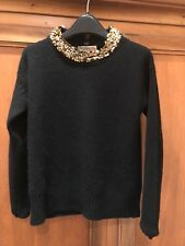 NEW Burberry Black Cashmere Sequin Wool Sweater/Jumper (RRP £495) Size Small