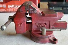 Vintage Sears Bench Vise 5178 3 12 Jaws Swivel Base Pipe Clamp Japan