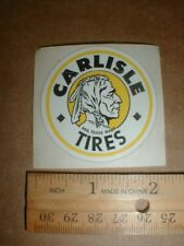 Carlisle Tires Motorcycle Racing Indian 1970s vtg old minibike sticker decal