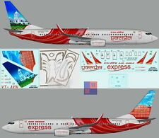 """1/144. Boeing B-737-800 """"Air India Express"""" VT-AXN,  decals by """"UP Rise"""" UR1442"""