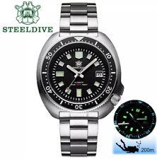 SteelDive SD1970 Willard 6105 turtle Dive Watch Seiko NH35 Automatic USA Ship