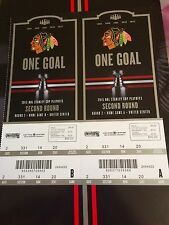 Chicago Blackhawks 2015 Semifinals Game 1 and 2 vs Wild Ticket Stubs MINT!