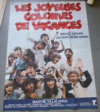Affiche de cinéma : LES JOYEUSES COLONIES DE VACANCES de Michel GERARD